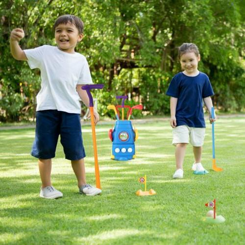 Kids Mini Golf Club Golf Set Plastic Toy Child Outdoors Sports Game