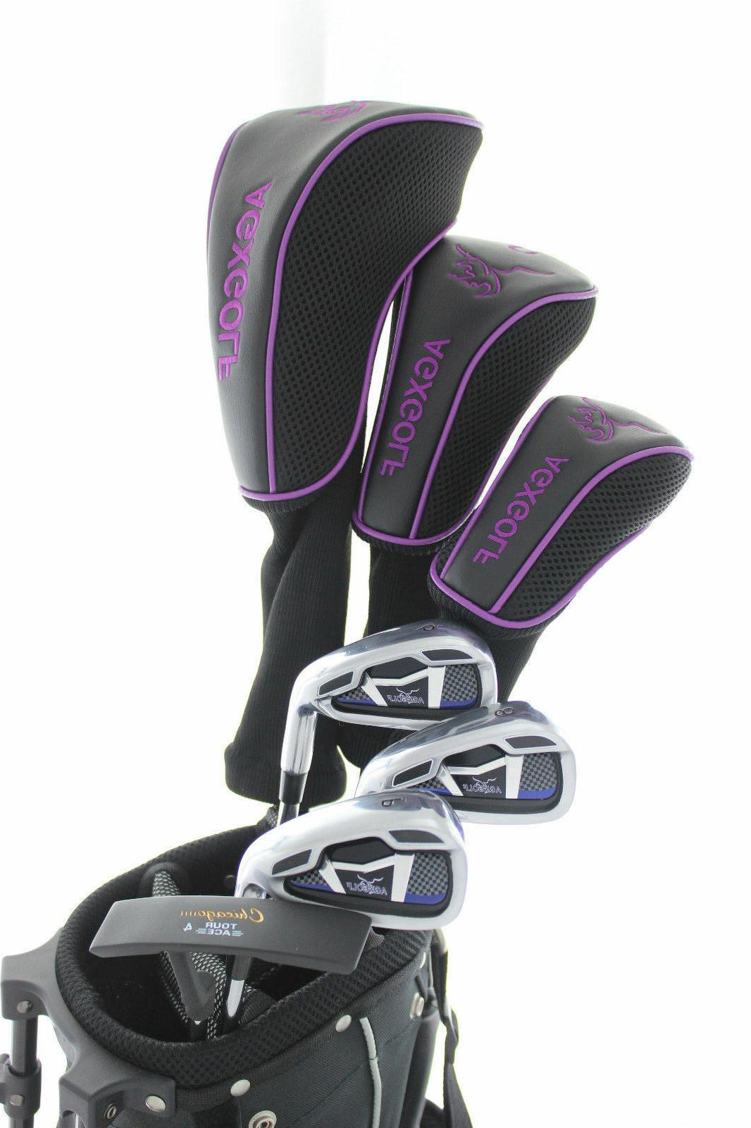 ladies violet trim graphite golf set wbag