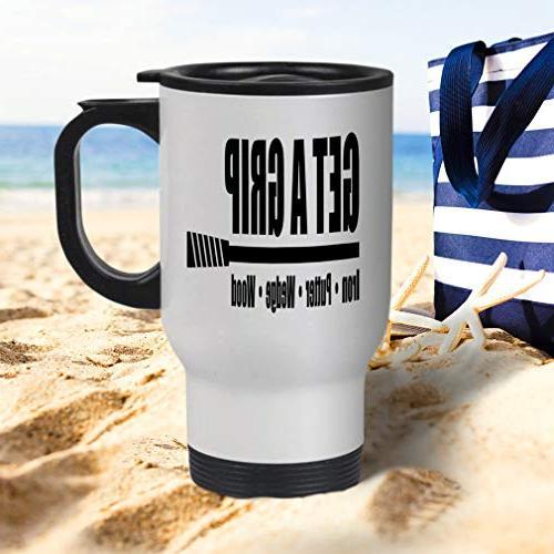 Style In Blue Grip Iron - Putter- - Steel Travel Mug