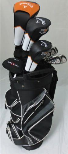 Mens Callaway Golf Set Driver, Wood, Hybrid, Irons Putter Ca