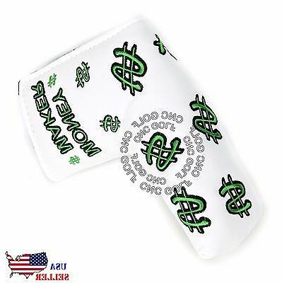 Money Maker White Putter Cover Headcover For Scotty Cameron