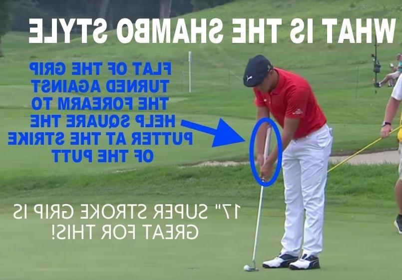 "NEW 17"" long golf grip black/white shambo arm lock grip"