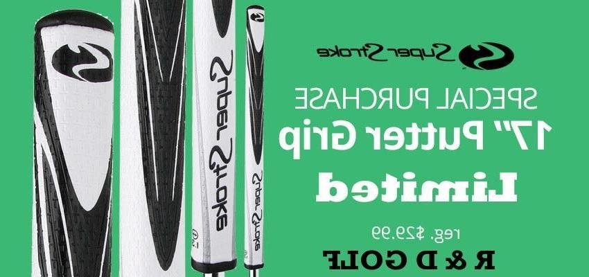 """NEW 17"""" long putter grip black/white shambo grip"""