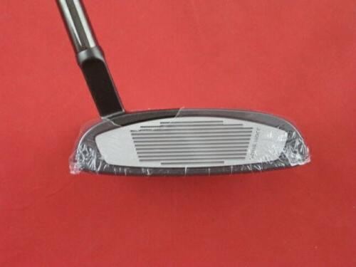 """NEW TAYLORMADE TOUR BLACK #3 35"""" PUTTER STEEL COVER + SUPERSTROKE"""