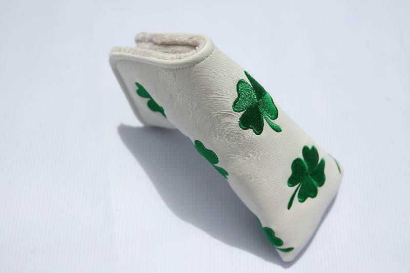 new white clover putter headcover