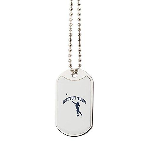 shot putter military style dog tag stainless