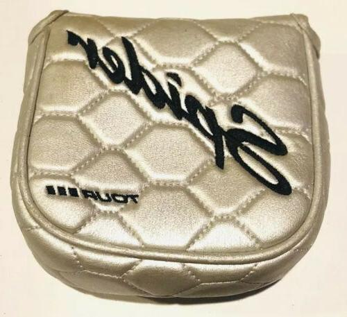 spider tour3 silver diamond mallet putter cover
