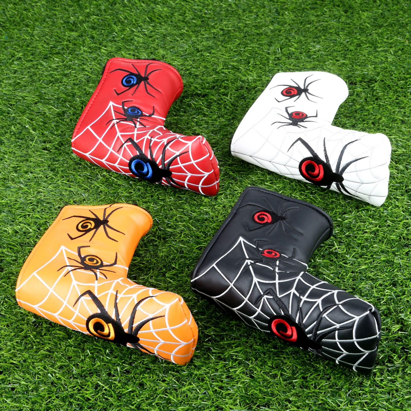 Spider Golf Blade <font><b>Headcover</b></font> PU Leather Head Covers Scotty <font><b>Odyssey</b></font>