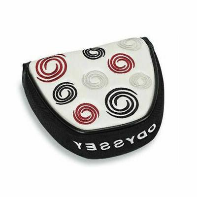 super swirl mallet putter head cover white