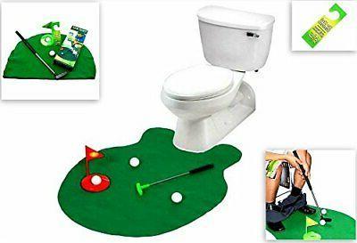toilet golf golf practice in the bathroom