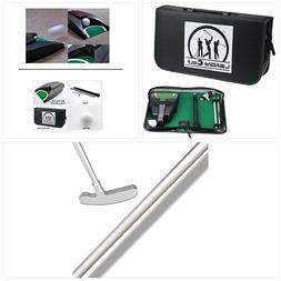 LEAGY Portable Golf Putter Travel Practice Putting Set with