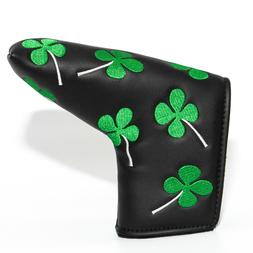 LUCKY Clover Blade Putter Head Cover Golf Headcover for Scot