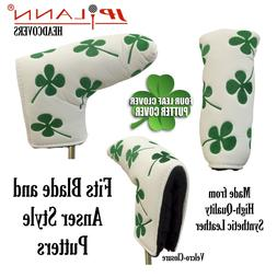 Lucky Four Leaf Clover Putter Cover for Anser and Blade Styl