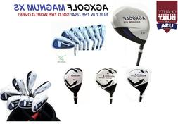 MEN'S LEFT HAND MAGNUM XS GOLF CLUB SET wGRAPHITE WOODS+HYBR