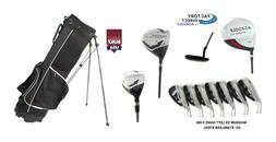 AGXGOLF MENS LEFT HAND COMPLETE GOLF CLUB SET wBAG+DRIVER+5-