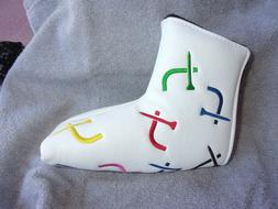 NEW - EMBROIDERED BLADE STYLE PUTTER COVER - PADDED - MAGNET