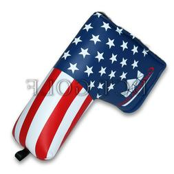 USA GOLF PUTTER COVER Blade Headcover America Flag For Scott