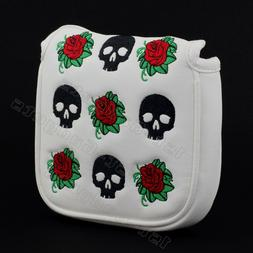 New Skull & Rose Mallet Putter Head cover for TaylorMade Gho