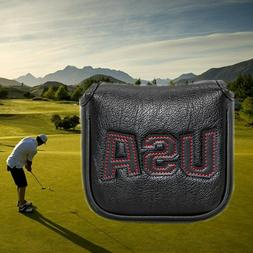 New Square Mallet Putter Cover Headcover Magnetic Usa For Ta