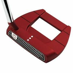 ODYSSEY O-WORKS RED JAILBIRD MINI SLANT PUTTER 35 IN