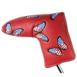 PINMEI One Putt Golf Putter Headcover Synthetic Leather Putt