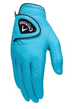 NEW Callaway Opti-Color Leather Aqua Blue Golf Glove Women's