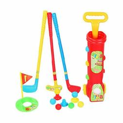 Plastic Mini Putter Golf Club Toy Set For Kids Indoor Outdoo