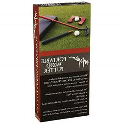 Maxam Portable Cherry Wood Putter Set for Travel or the Offi