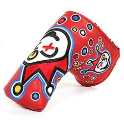 PU Leather Golf Putter Cover Protect Golf Blade Headcover Go