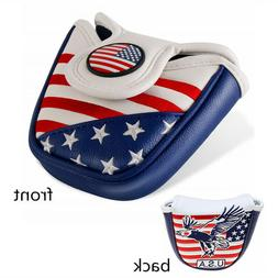 Putter Cover Mallet With Magnetic Closure Golf Headcover Tay