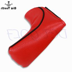 Big Teeth Red Golf Putter Cover Headcover Blade Club Protect