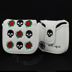 Skull Rose Head Cover for TaylorMade Spider FCG X Daddy Long