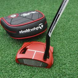 TaylorMade Spider Red Mini Putter LEFT HAND Double Bend Supe
