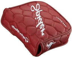 TAYLORMADE SPIDER TOUR MALLET PUTTER HEADCOVER - RED JASON D
