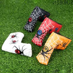 Spider With Silver Web Golf Blade Putter Cover <font><b>Head