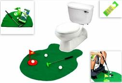 Toilet Golf, Putter Practice in the Bathroom with this Potty