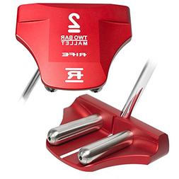 two bar red mallet putter