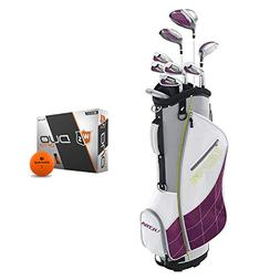 Wilson Ultra Womens Left Handed Super Long Golf Club Set wit