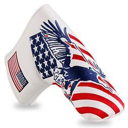 Montela Golf USA Eagle Magnetic Blade Putter Cover for Scott