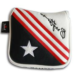 USA Magnetic Mallet Putter Cover Headcover for Odyssey Scott