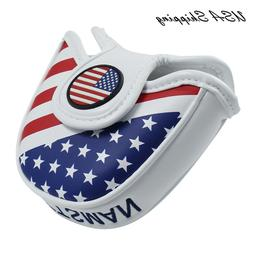 USA Ship Magnetic Golf Mallet HeadCover Cover For Scotty Cam