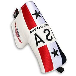 Craftsman Golf USA US Flag Blade Putter cover Headcover For