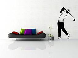 CreativeWallDecals Wall Decal Vinyl Sticker Golf Putter Spor
