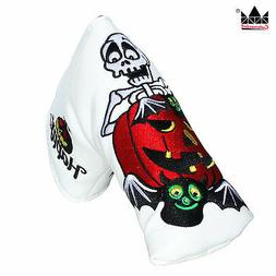 White Ghost Putter Cover Headcover For Magnet Golf Sccoty Ca