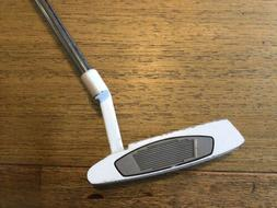 TAYLORMADE WHITE SMOKE IN-12 PUTTER GOLF CLUB STEEL GOOD GRI